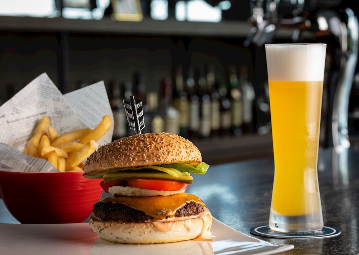 Signature beer and burger